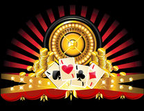 Golden roulette wheel Stock Photography