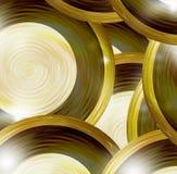 Golden round design elements Stock Photography