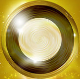 Golden round design elements Stock Images