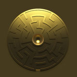 Golden round maze Stock Photos