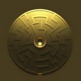 Golden round maze Stock Photos