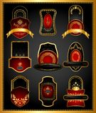 Golden Royal Badge Stock Images