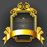 Golden Royal Badge Royalty Free Stock Images