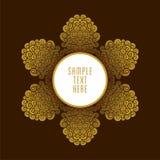 Golden royal color banner design Stock Images