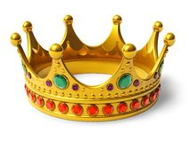 Golden royal crown Stock Images