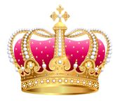 golden royal crown insulated on white background Royalty Free Stock Photos