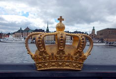 A golden Royal Crown Royalty Free Stock Photo