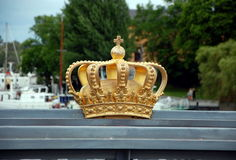 A golden Royal Crown Stock Images
