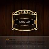 Golden Royal Labels Stock Images