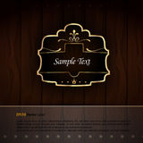 Golden Royal Labels Royalty Free Stock Photography