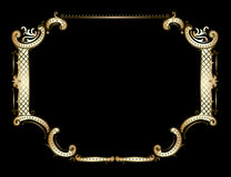 Golden Royal Ornate Frame Stock Image
