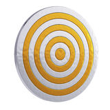 Golden royal target isolated on white background Royalty Free Stock Photography