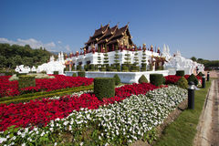 Golden Royal Temple Floral. Located in Ratchapruek Garden Chiang Mai Thailand Stock Photography