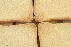 Golden rusk. Macro background of golden rusk Stock Photo