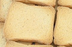 Golden rusk. Macro background of golden rusk Royalty Free Stock Images