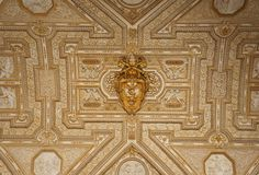 Golden S. Pietro Basilica ceiling Royalty Free Stock Image