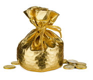 Golden  sack Royalty Free Stock Photo