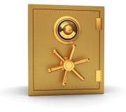 Golden safe Royalty Free Stock Images