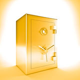Golden safe Royalty Free Stock Photo