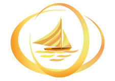 Golden Sail Royalty Free Stock Image