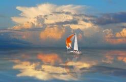 Golden Sail. Royalty Free Stock Image