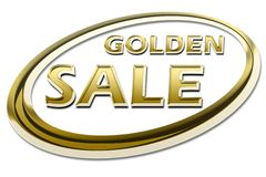 GOLDEN SALE Royalty Free Stock Photos