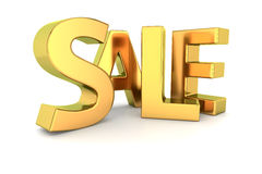 Golden sale Royalty Free Stock Images