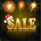 Golden sale on the black background. Illustration of Golden sale on the black background Royalty Free Stock Photo