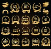 Golden sale Laurel wreath vector illustration collection Stock Image