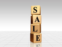 Golden sale with reflection Stock Photo