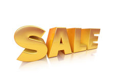 Golden sale text Stock Photo