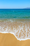 Golden sand and azure sea Royalty Free Stock Photos