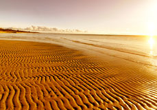 Golden sand on the beach Stock Photos