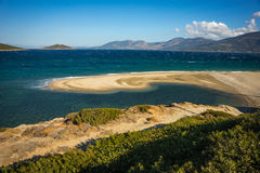 Golden sand beach, Evia, Greece Stock Photography