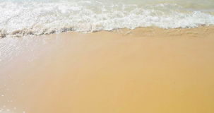 Golden sand with beach and tropical sea wave movement, summer time to holiday and relax stock video