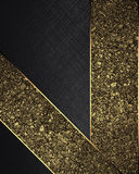 Golden sand with black ribbons. Element for design. Template for design. copy space for ad brochure or announcement invitation, ab. Stract background Stock Image