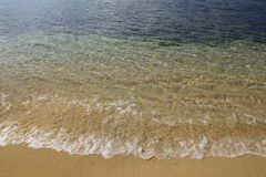 Golden sand and clear water #2, Elba Royalty Free Stock Photography