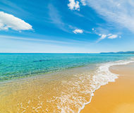 Golden sand in Costa Rei Stock Photography