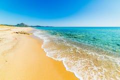Golden sand in Costa Rei Stock Images