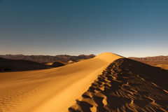 Golden Sand Dune. In Death Valley Stock Image
