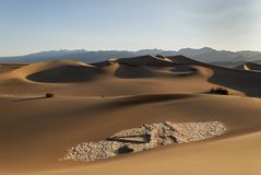 Golden Sand Dunes. Death Valley National Park - Golden Sand Dunes Stock Photo
