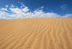Golden sand dunes in Maspalomas, Gran Canaria, Canary islands, Spain. Stock Images