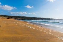 Golden sand in Porto Ferro beach Stock Photo