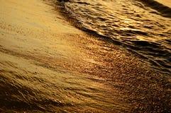 Golden sand Stock Photo