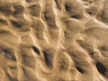 Golden sand ripples background Royalty Free Stock Photos