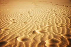 Golden Sand Waves Stock Photo