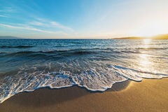 Golden sand and waves Royalty Free Stock Images