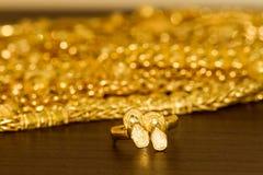 Golden sandal ring Stock Image