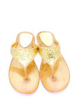 Golden sandals Royalty Free Stock Photos