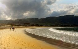 Golden sands Apollo Bay Royalty Free Stock Images